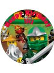 7.5 Personalised Lego Ninjago Design B Edible Icing Birthday Cake Topper